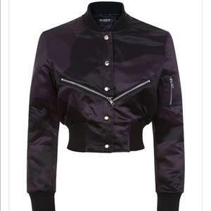Jackets & Blazers - MARBEK Black Crossover Cropped Bomber Size UK 8